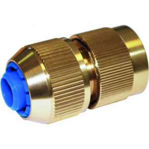 Raccord rapide 3 billes pour tuyau diamètre 19 en laiton avec Aqua Stop