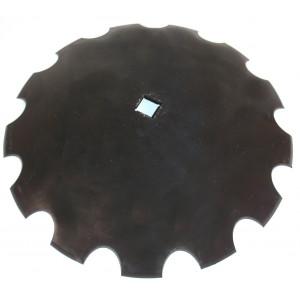 Disque de cover crop carré de 41 crénelé diamètre 660 épaisseur 6