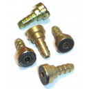 Kit 2 raccords pneumatiques à baïonnette cannelés D 7