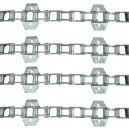 Jeu de 4 chaînes de convoyeur N°02 LAVERDA M305 / M306 sans tambour spécial renforcé