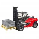 Chariot élévateur LINDE HT160 avec palette et 3 gitterbox