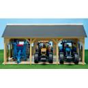 Hangar en bois pour 3 tracteurs