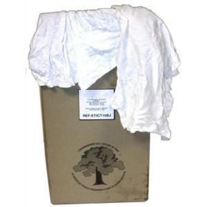 Carton de chiffons en jersey blanc de 10 kg