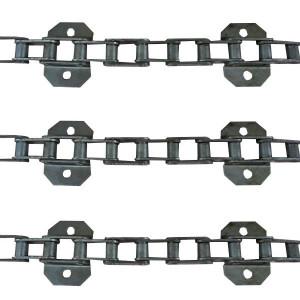 Jeu de 3 chaînes de convoyeur N° 6 CLAAS DOMINATOR 66-76 renf. (3ch.identiques)