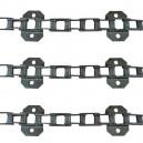 Jeu de 3 chaînes de convoyeur N° 6 FAHR 4080 hts 22eq - 131p long