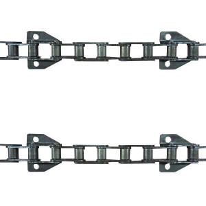 Jeu de 2 chaînes de convoyeur N°10 IH/case axial 1440-1460-1640-1660 renf (10.b)