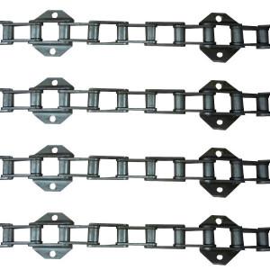 Jeu de 4 chaînes de convoyeur N°14 LAVERDA M305 M306 sans tambour