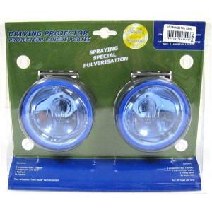 Kit de 2 phares de travail 12V 55W H3 lumière bleue