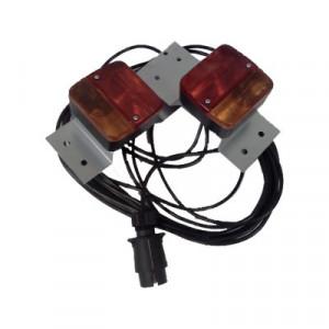 Kit éclairage arrière sur support métal entre feux 2.5M