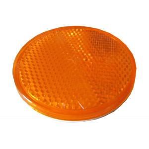 Catadioptre rond adhésif Orange - Diamètre 54