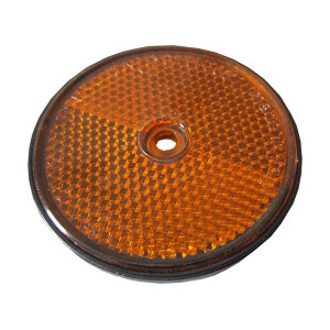 Catadioptre rond à fixer avec trou central Orange - Diamètre 61