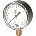 Manomètre 0-10 bar 1/4 m radial D 63 pour compresseur Lacme