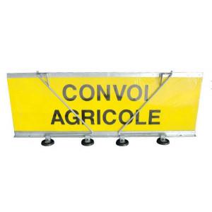 Panneau « Convoi agricole » 1200 × 400  double face + support magnétique