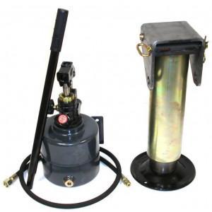 Kit béquille hydraulique 8T+ pompe + flexible + levier