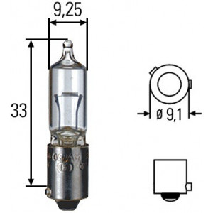 Ampoule iode Hella 24 V 21 W culot pour gyro Ellipse