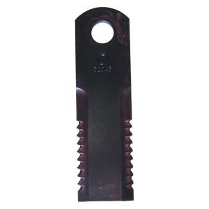 Couteau KPAB 173x50x5 Trou 20, 2 faces crantées Ref 87318316