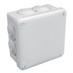 Boite de dérivation en saillie IP55 carrée 105 x 105 x 55 mm