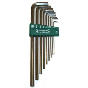 Jeu de clés STAHLWILLE mâles 6 pans de 1.5 à 10 mm longues