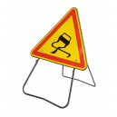 Triangle de signalisation ALU Chaussée glissante