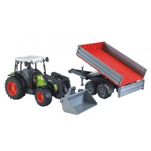 Tracteur CLAAS Nectis 267F avec chargeur et remorque
