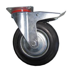 Roue pivotante Ø200 avec frein